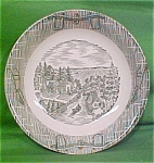 8 1/4 Inch Low Vegetable Currier & Ives By Scio Pottery