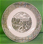 7 1/2 Inch Soup Bowl Currier & Ives By Scio Pottery
