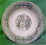 6 5/8 Inch Cereal Bowl Currier & Ives Scio Pottery