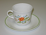 Corning Corelle Wildflower Cup & Saucer Set