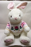 Plush White Rabbit With Knit Sweater