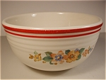 "1940's "" Bake Oven"" Flowered Mixing Bowl"