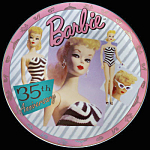 Barbie With Love: 35th Anniversary Plate By Enesco
