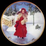 Victorian Elegance Barbie 1997: Hallmark Plate By Enesco