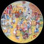 Purrfect Feast: Bill Bell Holiday Cats, Franklin Mint Plate