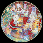 Not A Creature: Bill Bell Holiday Cats, Franklin Mint Plate