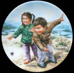 Spinning Tops Chinese Children Games Kee Fung Ng Plate