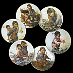 Children Of Aberdeen: Full 6 Plate Set By Kee Fung Ng