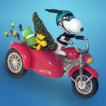 Zipping Through The Snow: Hallmark Peanuts Ornament 2009