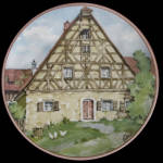 Franconian House: German Half-timbered Karl Bedal Plate