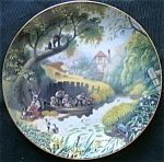 Children Fishing: Story Of Country Village Danbury Mint