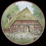 Lower Saxonian: German Half-timbered Karl Bedal Plate