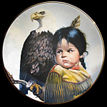 Brave And Free Pride Of America's Indians Perillo Plate