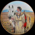 Lozen - Noble American Indian Women David Wright Plate