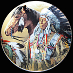 Pride Of The Sioux: Paul Calle, Franklin Mint Plate