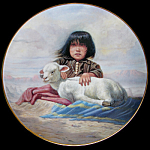 Watchful Waiting: Children Of The Prairie Perillo Plate