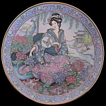 Hydrangea Maiden: By Marty Noble, Franklin Mint Plate