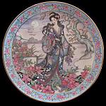 Azalea Flower Maiden: Marty Noble, Franklin Mint Plate