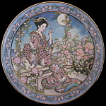 Jasmine Flower Maiden: Marty Noble, Franklin Mint Plate