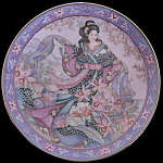 Orchid Flower Maiden: Marty Noble Franklin Mint Doulton