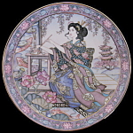 Lotus Blossom Maiden: Marty Noble Franklin Mint Doulton