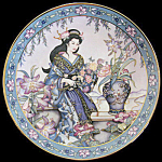 Maiden Of The Lilies: Marty Noble Franklin Mint Doulton