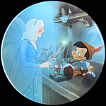 Pinocchio And The Blue Fairy: Disney Knowles Plate