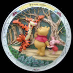 T Is For Tigger: Pooh Scuptural Bradford Plate 1997