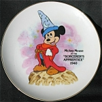 Mickey Mouse As Sorcerer's Apprentice Disney Plate