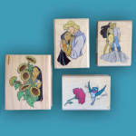 Disney Pocahontas Rubber Stamps Set Of 4