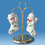 Holiday Stocking: Lenox Teddy Bear Salt & Pepper Shaker
