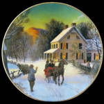 Home For The Holidays: Avon Christmas Plate 1988