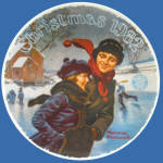 Christmas Courtship: Norman Rockwell 1982 Plate