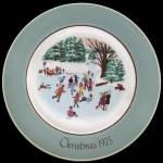 Skaters On The Pond: Avon Christmas Plate 1975