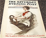 Saturday Evening Post Cover Prints: Clarence Underwood Lady Auto