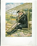 Art Print: Antique Airplane Flying Romance: Clarence Underwood