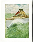 Vintage Print: Speed Boat Romance: Clarence Underwood Boating