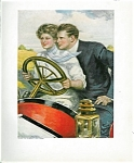 Antique Car: Auto: Driving Print: Romance: Clarence. Underwood