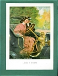 Antique Car: Auto: Driving Print: Romance: C. Underwood