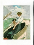 Sailing & Boating Print: Romance At Sea: Clarence Underwood