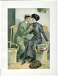 Honeymoon: Romance At Sea: Cruise Ship: Clarence Underwood Print