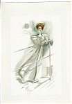 Vintage Print Victorian Cruise Ship Lady Harrison Fisher