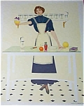 Vintage Print Coles Phillips Fade Away Girl Kitchen Cooking