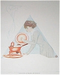 Vintage Print Cooking Kichen Coles Phillips Fade Away Girl