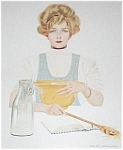 Coles Phillips Vintage Print Kitchen Cooking Lady