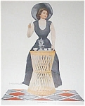 Vintage Print Coles Phillips Kitchen Girl Teacup Afternoon Tea