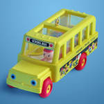 Fisher Price School Bus: Hallmark Ornament 2009