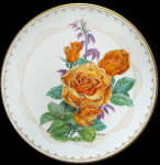 Brandy: Boehm Roses Of Excellence Plate