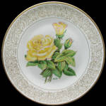 The Peace Rose: Award Winning Roses Boehm Studios Plate