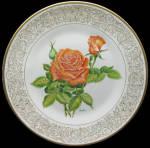 Tropicana Rose: Award Winning Roses Boehm Studios Plate